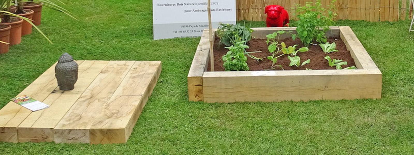 Fabriquer Potager Carré En Bois carrés potagers en chêne naturel - création bretagne
