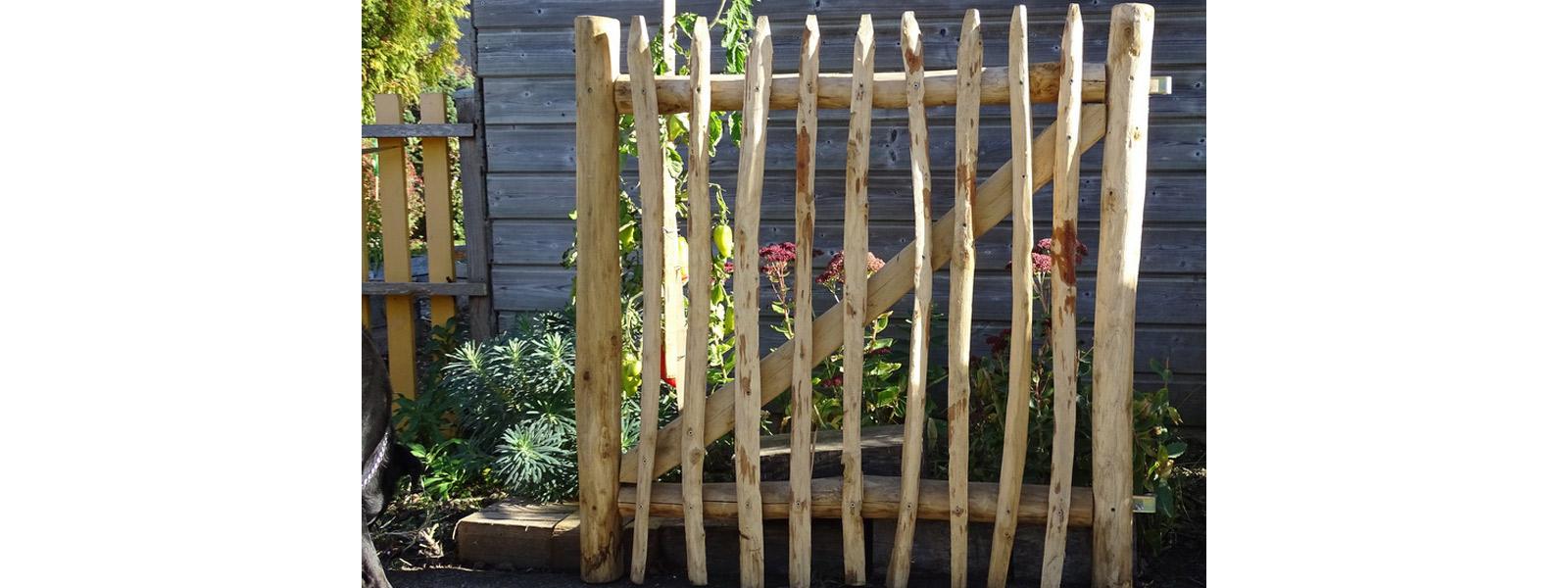 Portillons en bois de châtaignier - Création Bretagne Sarzeau