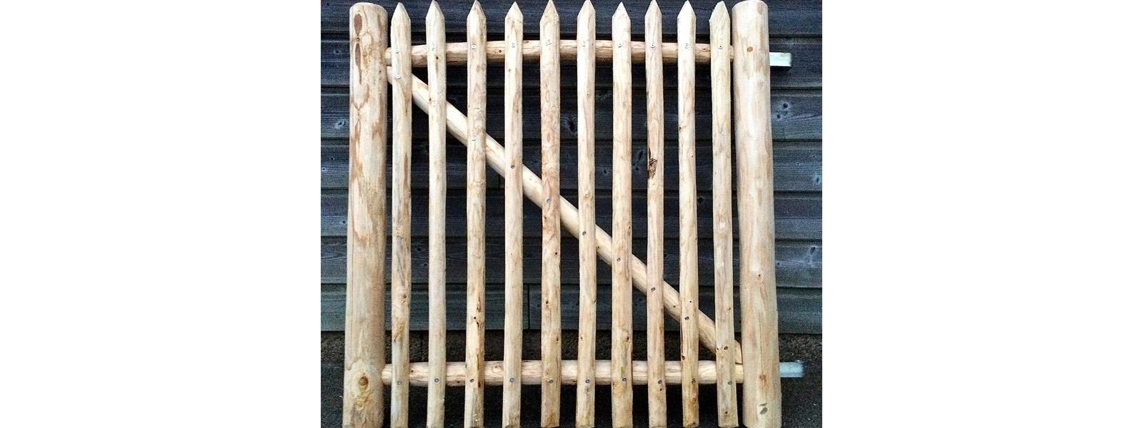 Portillons en bois de châtaignier - Idées bois et jardins